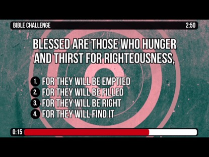 THE BEATITUDES - MATTHEW 5:1-12