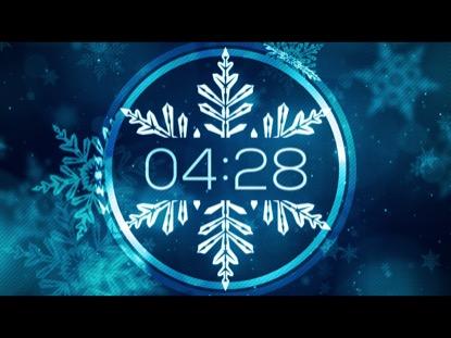 CHRISTMAS GLOW SNOWFLAKES COUNTDOWN