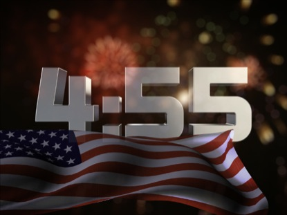 USA FLAG FIREWORKS COUNTDOWN