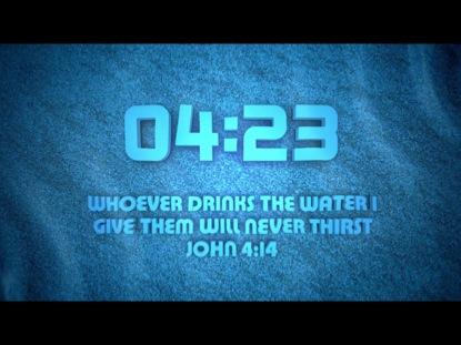 WATER SCRIPTURE COUNTDOWN