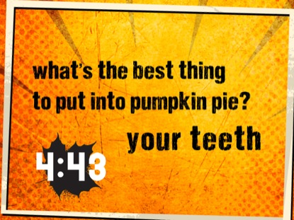 THANKSGIVING GRUNGE JOKE COUNTDOWN