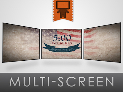 VINTAGE INDEPENDENCE DAY COUNTDOWN TRIPLE WIDE