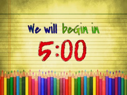COLOR PENCILS COUNTDOWN