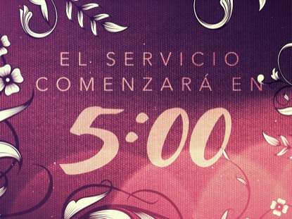 FILIGREE FLOWERS COUNTDOWN - SPANISH