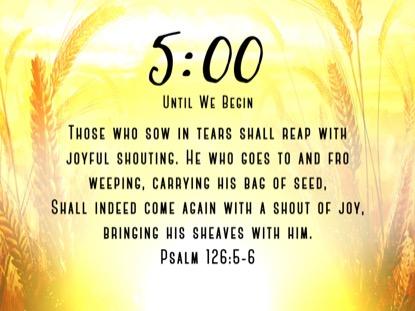 HARVEST SOWING 1 SCRIPTURE COUNTDOWN