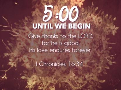 THANKSGIVING GRATITUDE SCRIPTURE COUNTDOWN