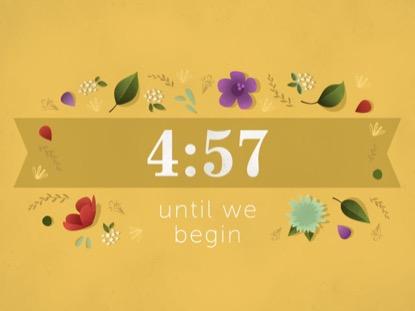 FLORAL MOTIF - COUNTDOWN