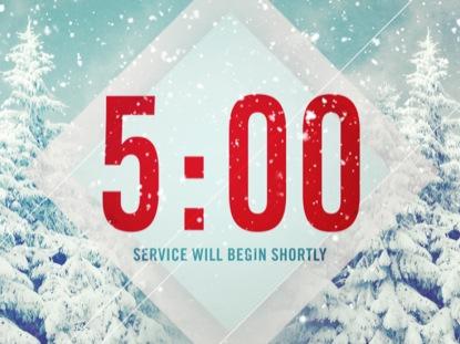 SNOW SCENE COUNTDOWN