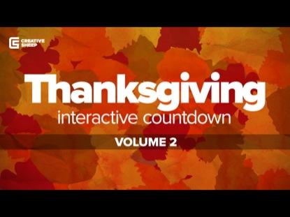 THANKSGIVING INTERACTIVE COUNTDOWN VOLUME 2