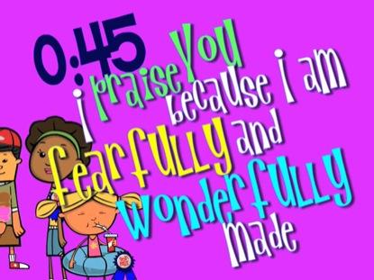 PSALM 139 COUNTDOWN