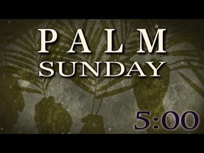 PALM SUNDAY COUNTDOWN 3
