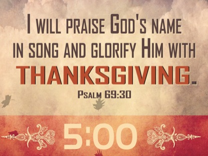 THANKSGIVING WORSHIP COUNTDOWN