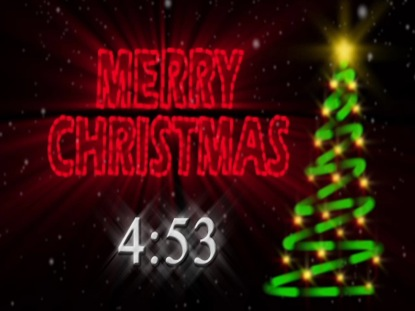 MERRY CHRISTMAS NEON COUNTDOWN