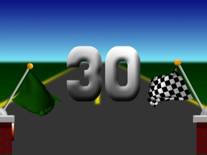 RACE FLAGS 30 SECOND COUNTDOWN