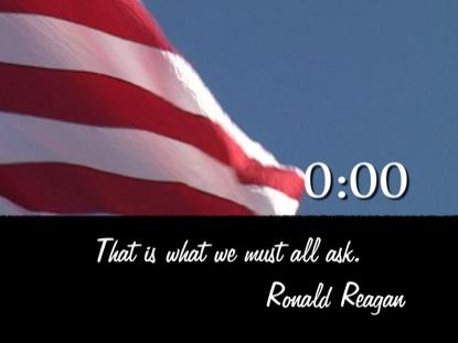 REAGAN SPEECH COUNTDOWN