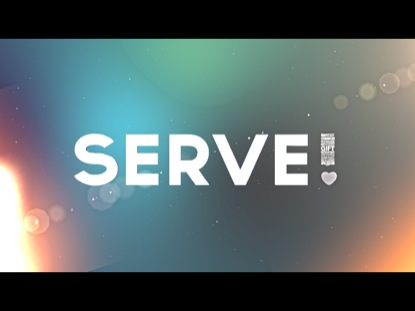 IT'S TIME TO SERVE