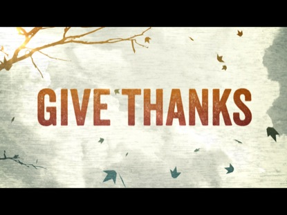 Preview for GIVE THANKS