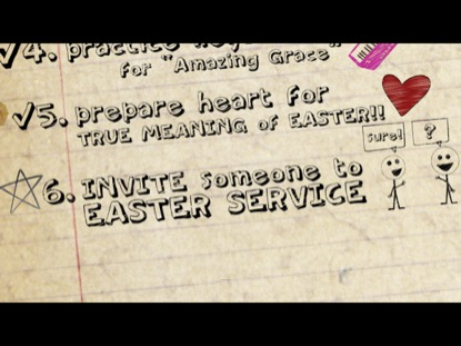 TO DO LIST (EASTER INVITE)