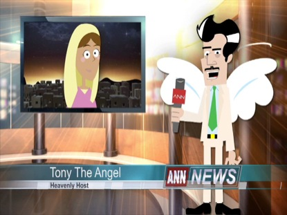 CHRISTMAS TONY THE ANGEL INTERVIEWS MARY