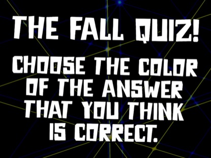 BIBLE QUIZ: THE FALL