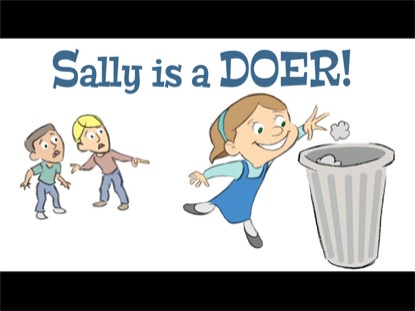 SALLY IS A DOER!