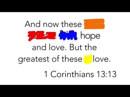 SCRIBBLE VERSE- 1 CORINTHIANS 13:13