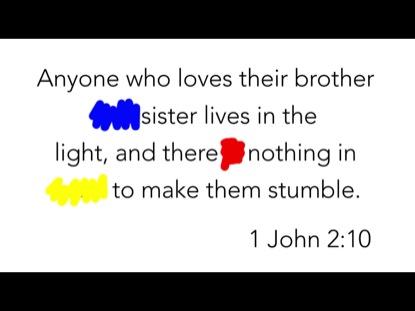 SCRIBBLE VERSE- 1 JOHN 2:10