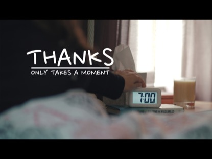 THANKS ONLY TAKES A MOMENT