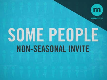 SOME PEOPLE NON-SEASONAL INVITE