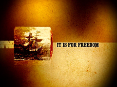 IT IS FOR FREEDOM