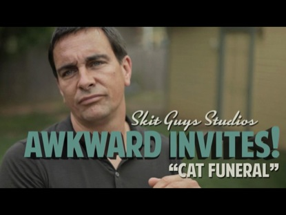 Preview for AWKWARD INVITES: CAT FUNERAL