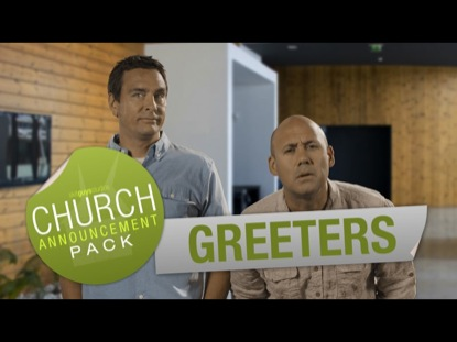 CHURCH ANNOUNCEMENT GREETERS