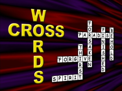 CROSSWORDS SERMON INTRO