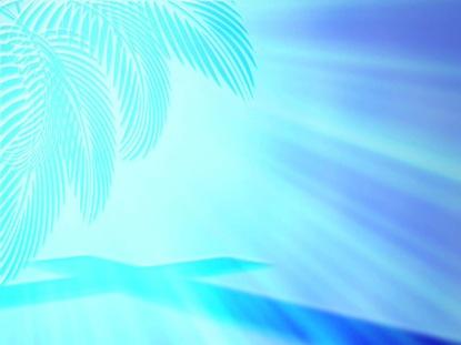 PALM CROSS BLUE