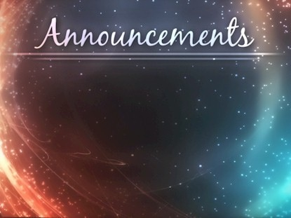 Cosmic Announcements Motion | Animated Praise | Youth Worker