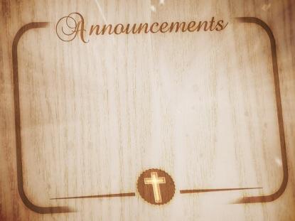 WOOD GRAIN ANNOUNCEMENTS MOTION 2