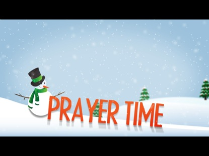 WINTER TITLE SLIDE PRAYER TIME