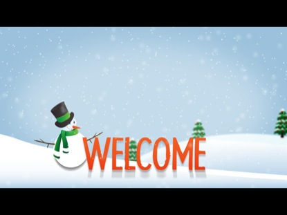 WINTER TITLE SLIDE WELCOME