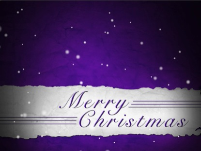 MERRY CHRISTMAS FLURRIES PURPLE