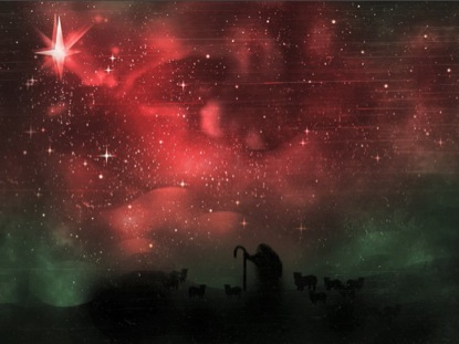 SHEPHERD ON A HILL STAR RED AND GREEN