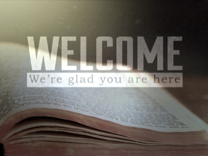 OPEN BIBLE WELCOME LOOP