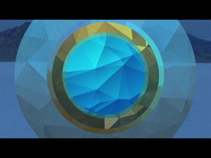 RGB POLYGONAL CIRCLES BLUE