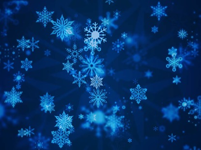 ABSTRACT CHEER BLUE SNOWFLAKES