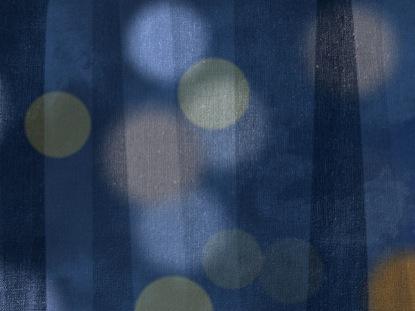 AUTUMN BURLAP COOL BLUE