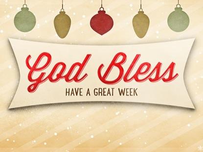 CHRISTMAS SCRAPBOOK GOD BLESS