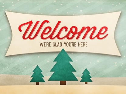 CHRISTMAS SCRAPBOOK WELCOME