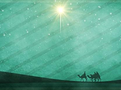 CHRISTMAS SCRAPBOOK WISE MEN STAR