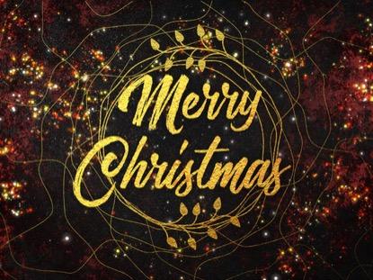 GLITTER GOLD MERRY CHRISTMAS