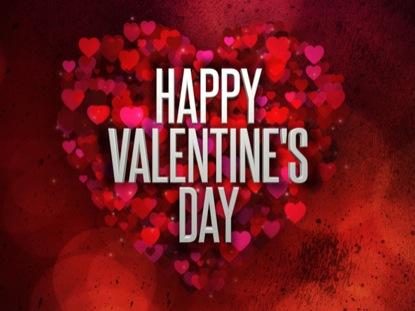 HEARTS HAPPY VALENTINE'S DAY