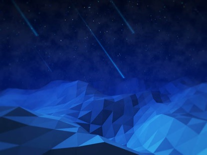 LOW POLY LANDSCAPE NIGHT SKY
